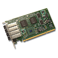 LSI Logic LSI7404XP-LC 4Gb/s Quad-port PCI-X Fibre Channel HBA. 4 X SFP Transceivers Included.