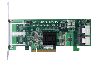 Areca ARC-1320-8i 8-Port Internal 6Gb/s SAS Non-RAID Host Bus Adapter