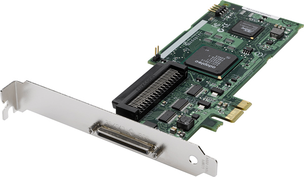 Adaptec 29320LPE PCI-Express Ultra320 SCSI Controller Card.