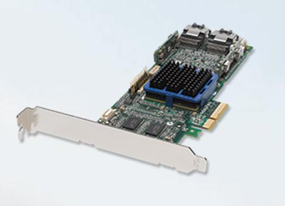 Adaptec RAID ASR-3805 8-internal port, low profile, PCI-Express (PCIe) Unified Serial SAS RAID controller