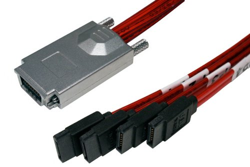 New Intel G24109-001 iPass-miniSAS//SFF-8087 to 4xSATA CABLE//RAID CARD cable//HD