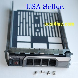 Dell F238F 3.5-inch SAS SATAu Drive Caddy Tray for PowerEdge R320 R420 R520 R720 R630 R730XD T320 T420 T620 T630 T710
