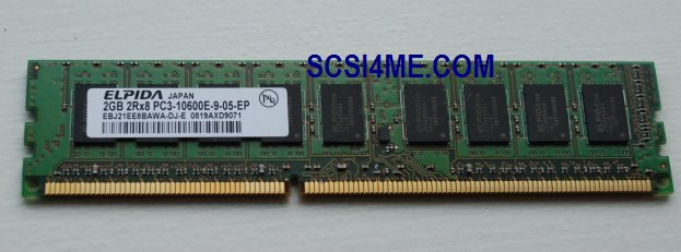 Elpida EBJ21EE8BAWA-DJ-E 2GB 2Rx8 PC3-10600E Unbuffered DDR3 SDRAM Dimm memory
