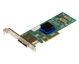 ATTO ExpressSAS H680 Low-Profile 8-External Port 6Gb/s SAS SATA PCIe 2.0 Host Adapter. Used.