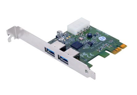 Sans Digital HA-SAN-2U3PCIE - 2-Port SuperSpeed USB 3.0 PCI-Express PCIe 2.0 (x1) Host Adapter