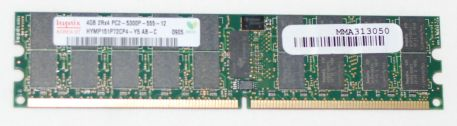 Hynix 4GB PC2-5300 DDR2-667MHz ECC Registered CL3 240-Pin DIMM Original Memory Module Mfr P/N HYMP151P72CP4-Y5