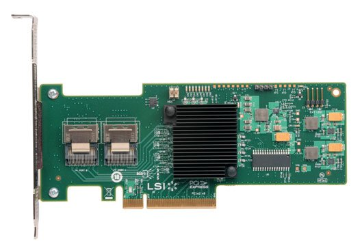 IBM ServeRAID M1015 / LSI SAS9220-8i PCI-Express PCIe 8-port 6Gb/s SAS+SATA Controller with RAID 0,1 support.
