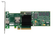 LSI00177 - LSI Logic MegaRAID SAS 8704EM2 Four-port 3Gb/s PCI Express SAS/SATA RAID Adapter. Retail Kit