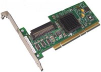 LSI Logic LSI20320-HP 64-bit PCI-X Ultra320 SCSI Card. HP OEM. Works in both PCI 32bit and 64bit slots.