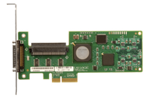 LSI Logic LSI20320IE PCI-Express Single Channel Ultra320 SCSI Controller Card. OEM