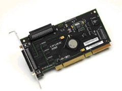 LSI Logic LSIU320 PCI-X Ultra320 LVD SCSI Controller Card with HD68-pin connectors. Work in 32bit and 64bit PCI slots.