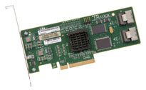 LSI00182 LSI SAS 3081E-R 3Gb/s SAS HBA, 8-Port Internal Controller Card.  RAID 0, 1, 1E, 10E Support.