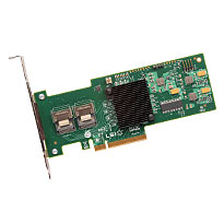 LSI MegaRAID SAS 9240-8i -8-port PCI-Express 6Gb/s SATA SAS RAID controller. 2x SFF-8087 connectors. Card Only