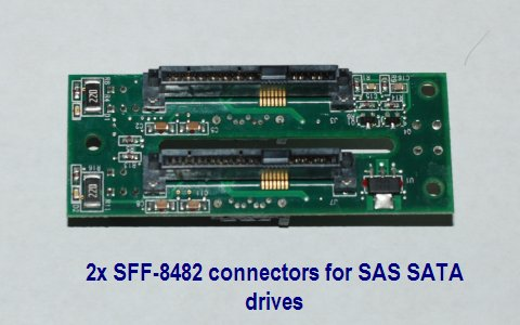 "Rackable System PCA 15-00-00198-R Backplane Board for 2x 2.5"" SAS SATA Drive"