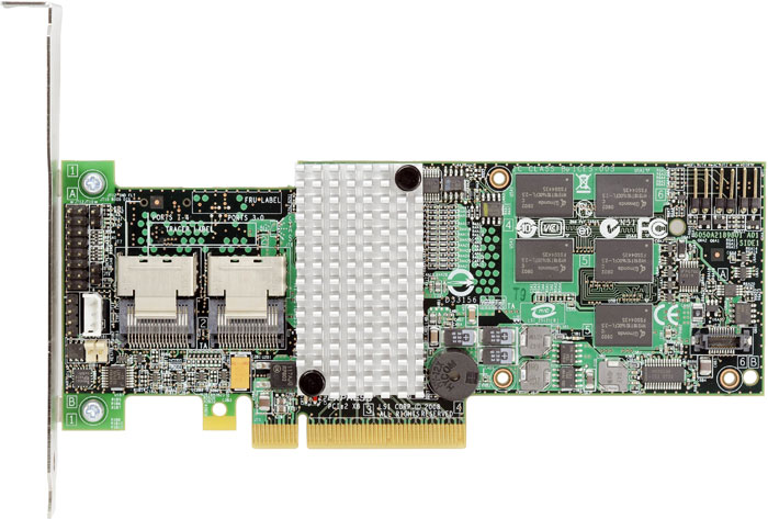 Intel RS2BL080 PCI-E 6Gb/s SAS RAID Controller with 2x SFF-8087 Internal miniSAS Connectors. (OEM LSI 9260-8i)