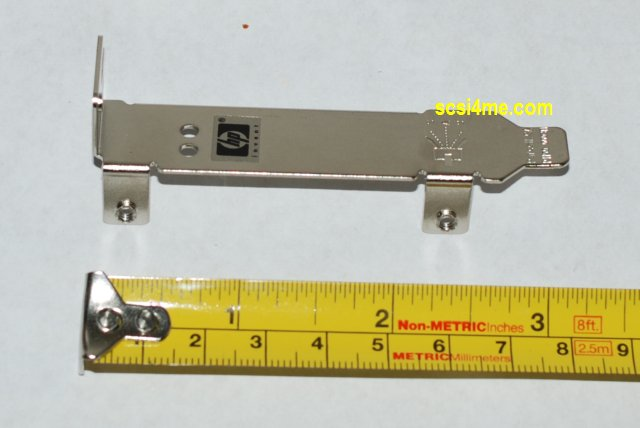 Low Profile Mounting Bracket with LED Cut Out for  LSI SAS3042EL-HP & Other Low Profile SAS controllers