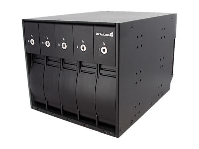 StarTech SBAY5BK 5 Drive 3.5in Removable SAS SATA Mobile Rack Backplane
