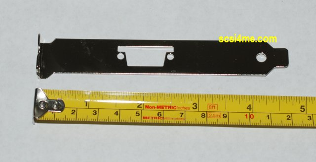 Low Profile Mounting Bracket with SFF-8470 External SAS Cut-Out for LP SAS Controller. See picture for cut-out location.