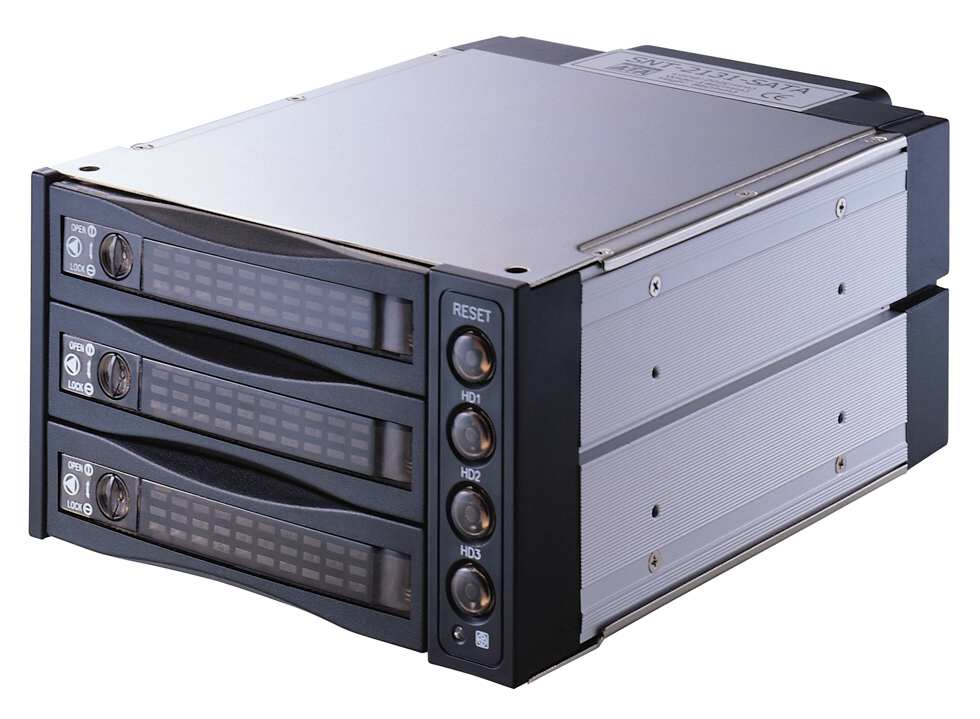 SNT SATA2131B 2x5.25''Bays to 3 SATA HDD Hot Swap Internal Drive Cage