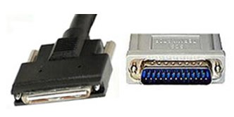 External VHDCI-DB25 SCSI Cable With Active High Byte Termination