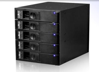 SNT-SAC3051TL 3-Bay 5-Drives SAS /SATA Backplane Cage. Screwless, Trayless HDD mounting.