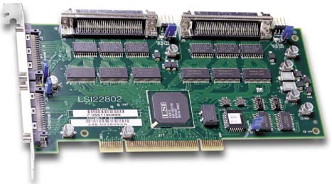 LSI Logic LSI22802 / Symbios SYM22802 Dual HVD Differential Ultra/Wide SCSI PCI card
